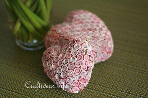 Lovely Quilled Paper Hearts