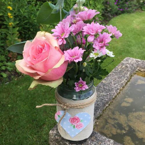 Natural Mason Jar Flower Vase Favecrafts
