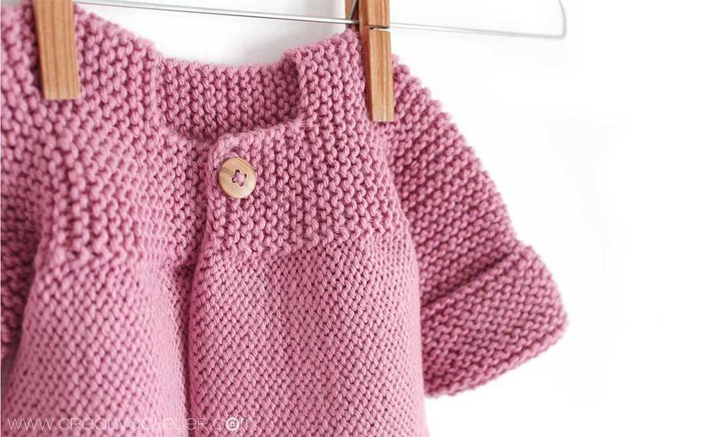 Knitted Baby Cardigan   AllFreeKnitting.com