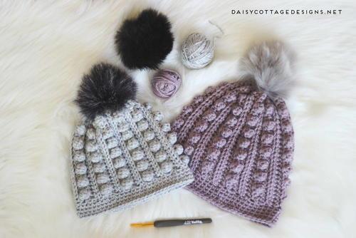 Bobble Beanie Crochet Pattern | AllFreeCrochet.com