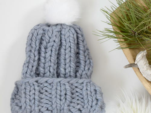 Quick Pretty Chunky Knit Hat Pattern Allfreeknitting