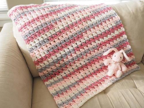 Cross-Over Block Stitch Baby Blanket Crochet Pattern | FaveCrafts.com