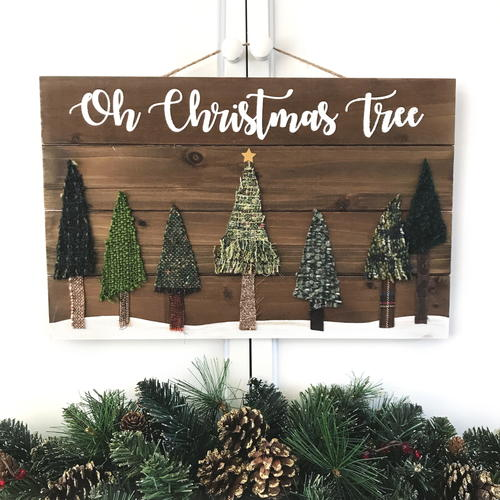 oh christmas tree rustic wooden sign - Rustic Wood Christmas Tree