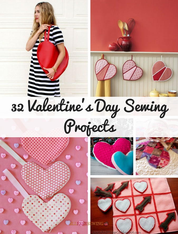 32 Valentineu0027s Day Sewing Projects | Allfreesewing.com   Valentine Projects