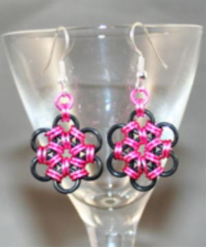 Pink Passion Flower Earrings