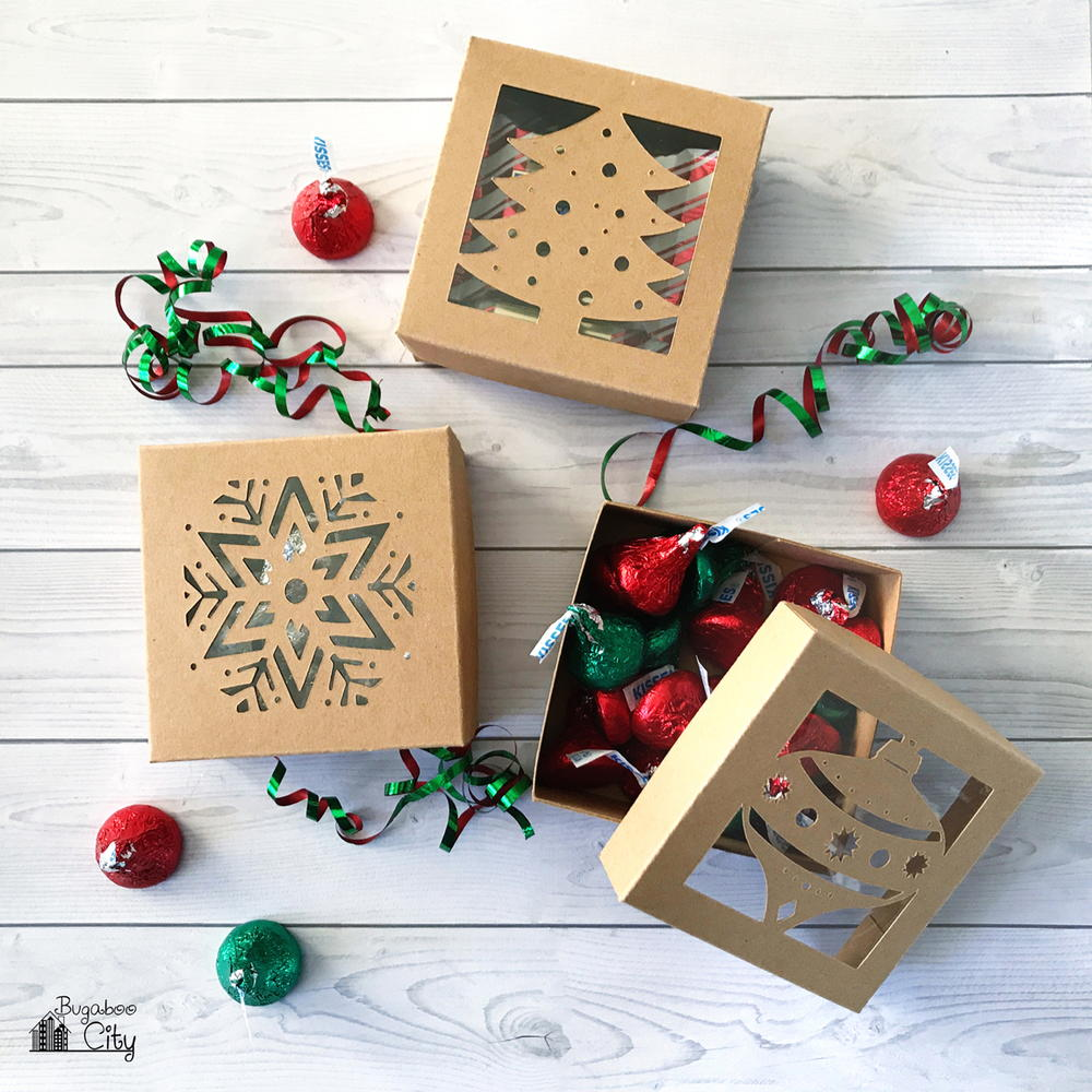 DIY Cardstock Christmas Boxes | AllFreePaperCrafts.com