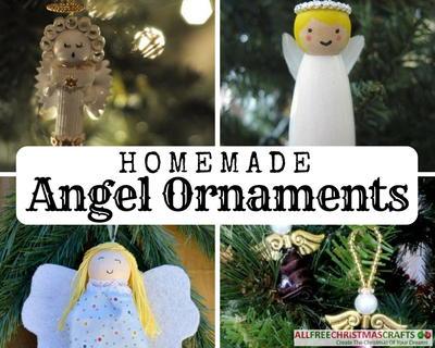 Homemade angel ornaments allfreechristmascrafts