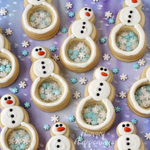 Snowflake-Filled Snowman Cookies Recipe