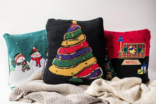 Ugly Christmas Sweater Pillow Covers