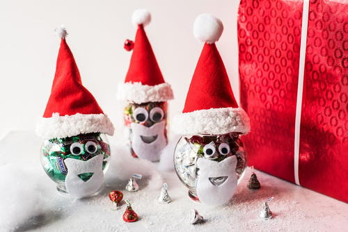 Santa Christmas Candy Jars