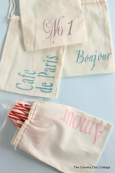 Chic French Wedding Favor Bags