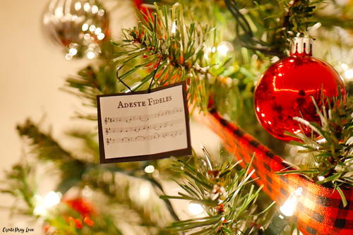 Christmas Carol Sheet Music Ornaments