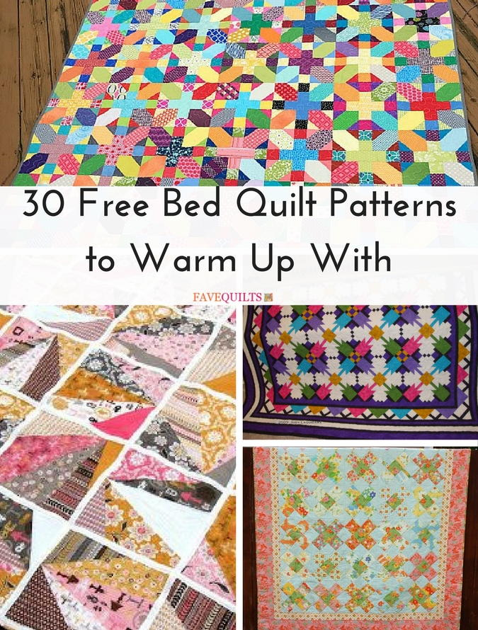 30 free bed quilt patterns to warm up with favequilts spiritdancerdesigns Gallery