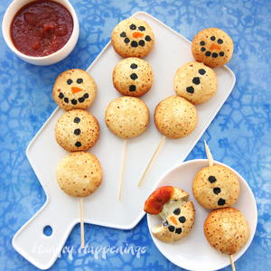 Easy Cheesy Snowman Snacks