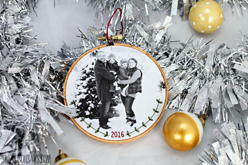 Embroidered Family Portrait Ornament