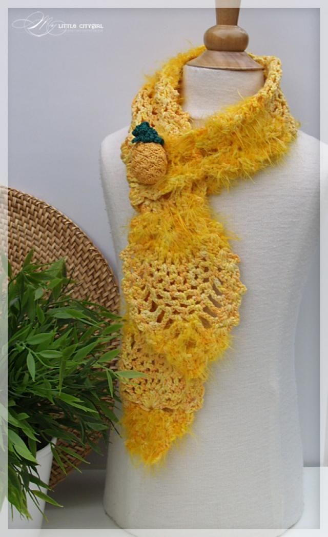 Pineapple Scarf Crochet Pattern Favecrafts