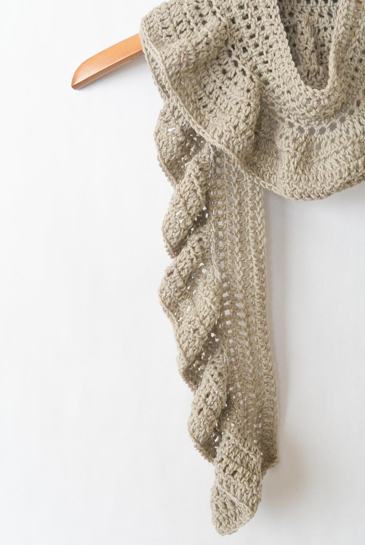Crocheted Ruffle Scarf Allfreecrochet Com