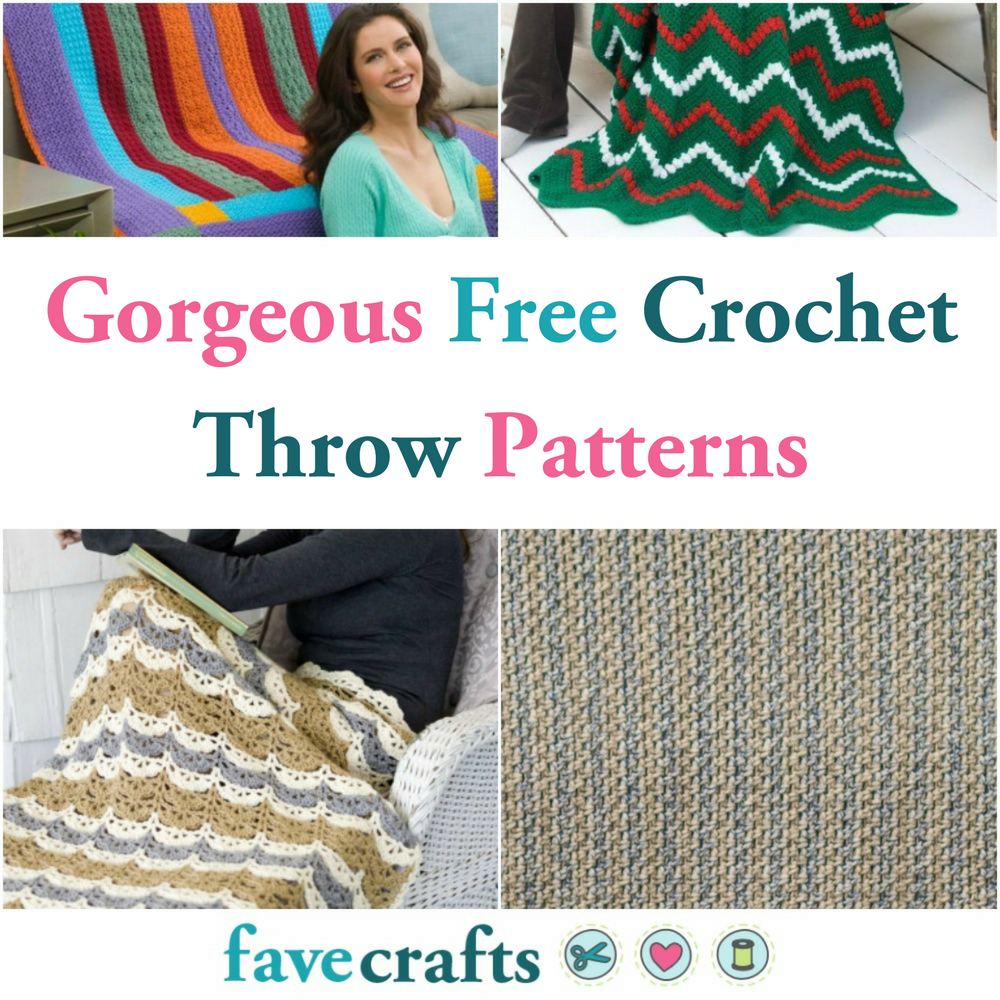 Free Crochet Throw Patterns 21 Gorgeous Blankets Favecrafts