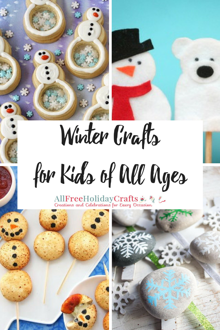 25 winter crafts for kids of all ages for Crafts for all ages