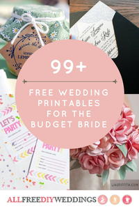 99+ Free Wedding Printables for the Budget Bride