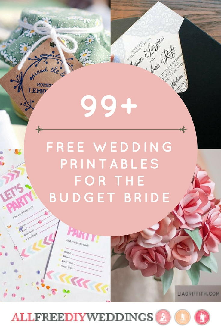 99+ Free Wedding Printables for the Budget Bride ...