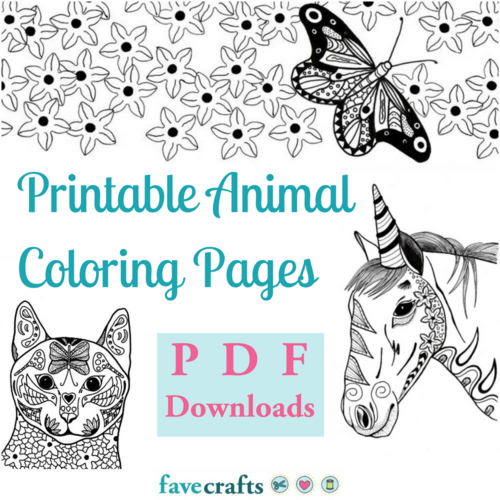 37 Printable Animal Coloring Pages (PDF Downloads) | FaveCrafts.com