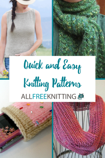 40 Quick And Easy Knitting Patterns AllFreeKnitting Custom Easy Knit Patterns