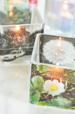 DIY Photo Votive Candle Holders