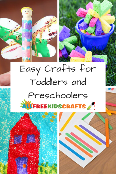 Easy Crafts for Toddlers and Preschoolers