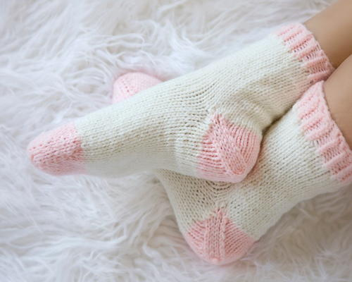 Ballet Pink Slipper Socks