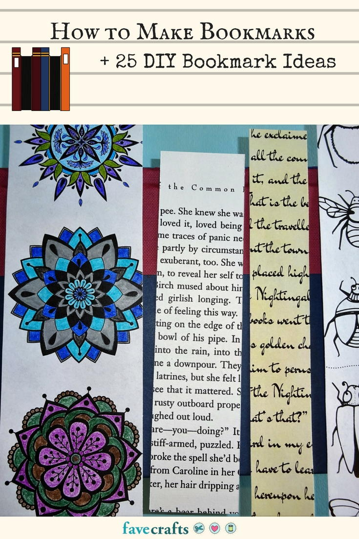 how to make bookmarks + 25 diy bookmark ideas | favecrafts