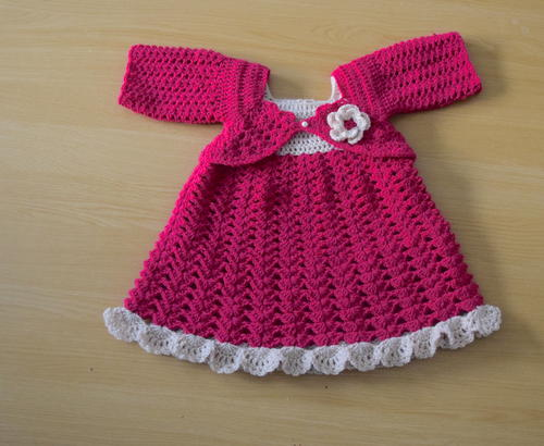 Plum Crochet Baby Dress