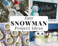 30 Easy Snowman Project Ideas