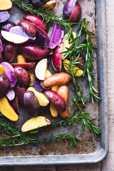 Farmhouse-Style Rosemary Roasted Rainbow Potatoes