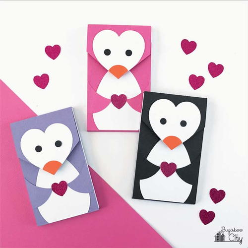 DIY Valentine's Day Penguin Notepads
