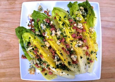 Bacon and Blue Cheese Wedge Salad