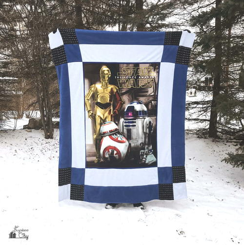 Star Wars-Inspired Reversible Fleece Quilt