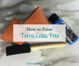How To Paint Terra Cotta Pots Favecrafts Com