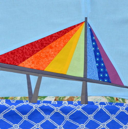 Rainbow Bridge Foundation Paper Piecing Pattern