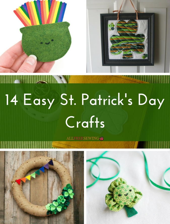st patrick day craft ideas 14 easy st s day crafts allfreesewing 7187