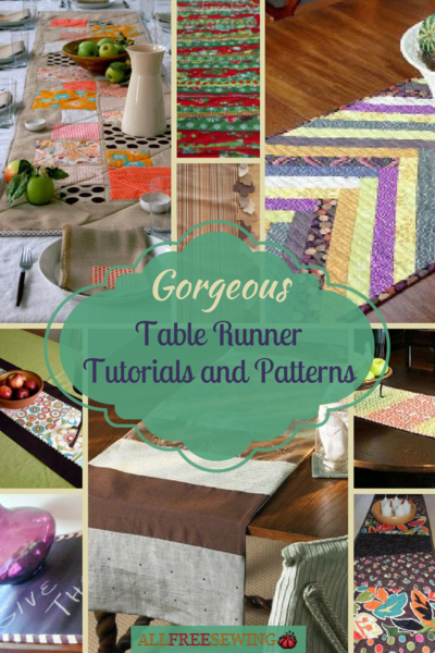 17 Gorgeous Table Runner Tutorials and Patterns