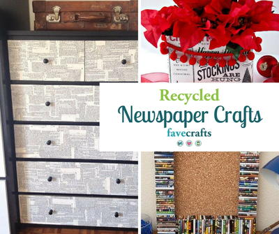 30+ Recycled Newspaper Craft Ideas