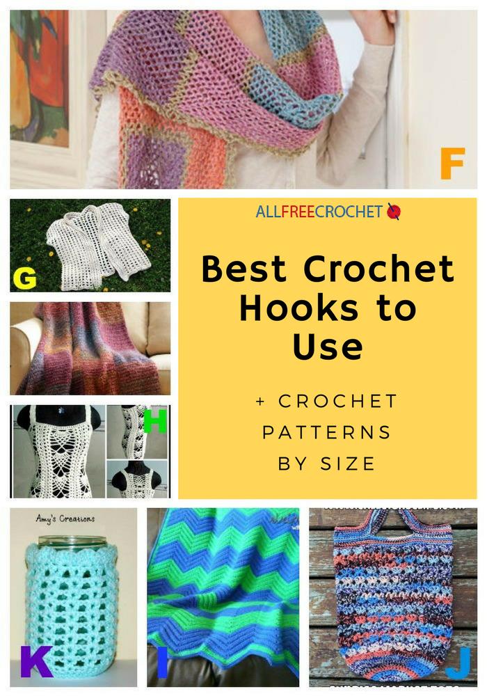 6 Best Crochet Hooks To Use Crochet Patterns By Size