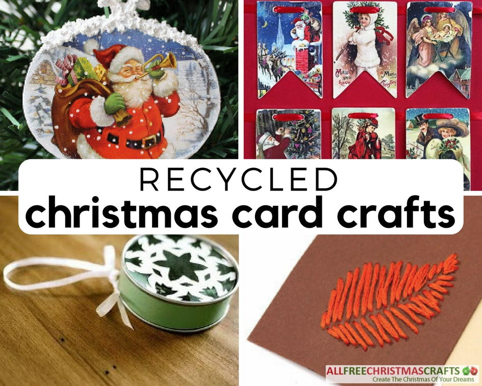 26 Ways To Recycle Christmas Cards | AllFreeChristmasCrafts.com