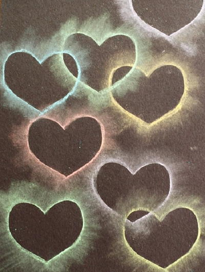 Sweet Stenciled Hearts