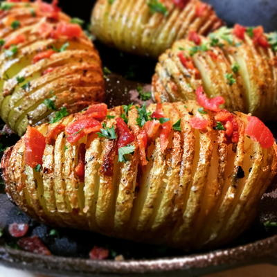 Parmesan and Herb Hasselback Potatoes
