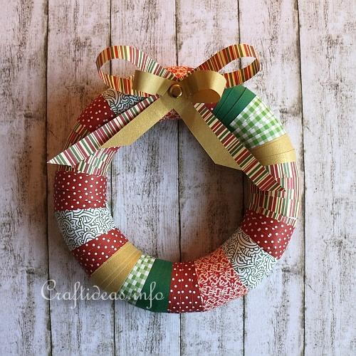 Paper Strip Christmas Wreath