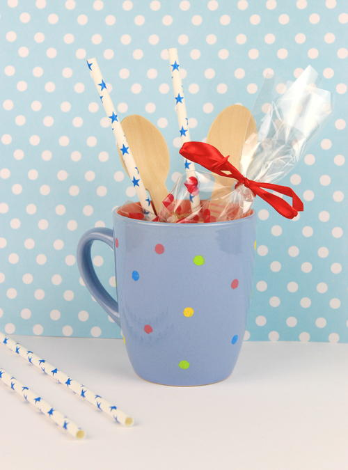 Polka Dots Mug Gift Idea