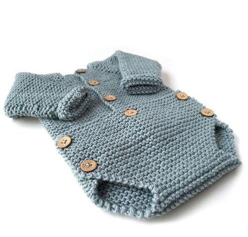 Knitted Baby Onesie Allfreeknitting