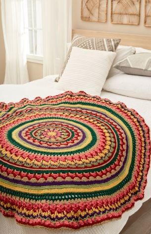Circular Fall Mandala Crochet Throw
